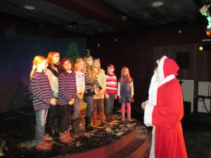 Die Peewees bei der Vereinsweihnachtsfeier im alten Theater