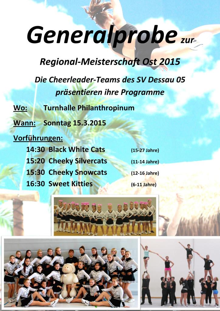 Generalprobe zur Regionalmeisterschaft Ost 2015 Plakat